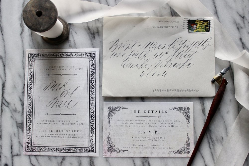Miranda Writes | Vintage-Inspired Wedding Invitations | Modern Calligraphy