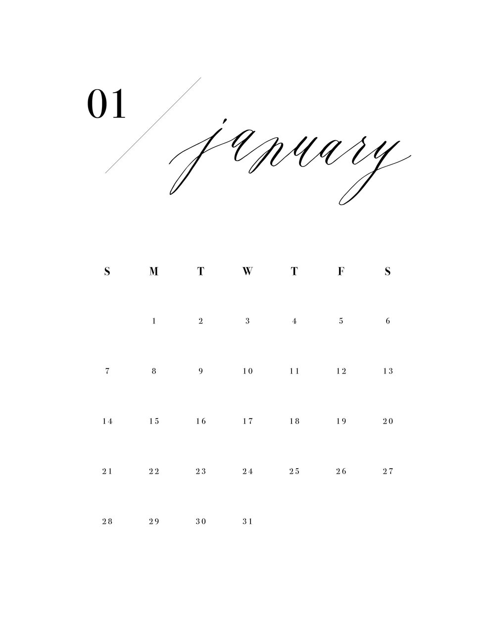 2018 miranda writes clipboard calendar