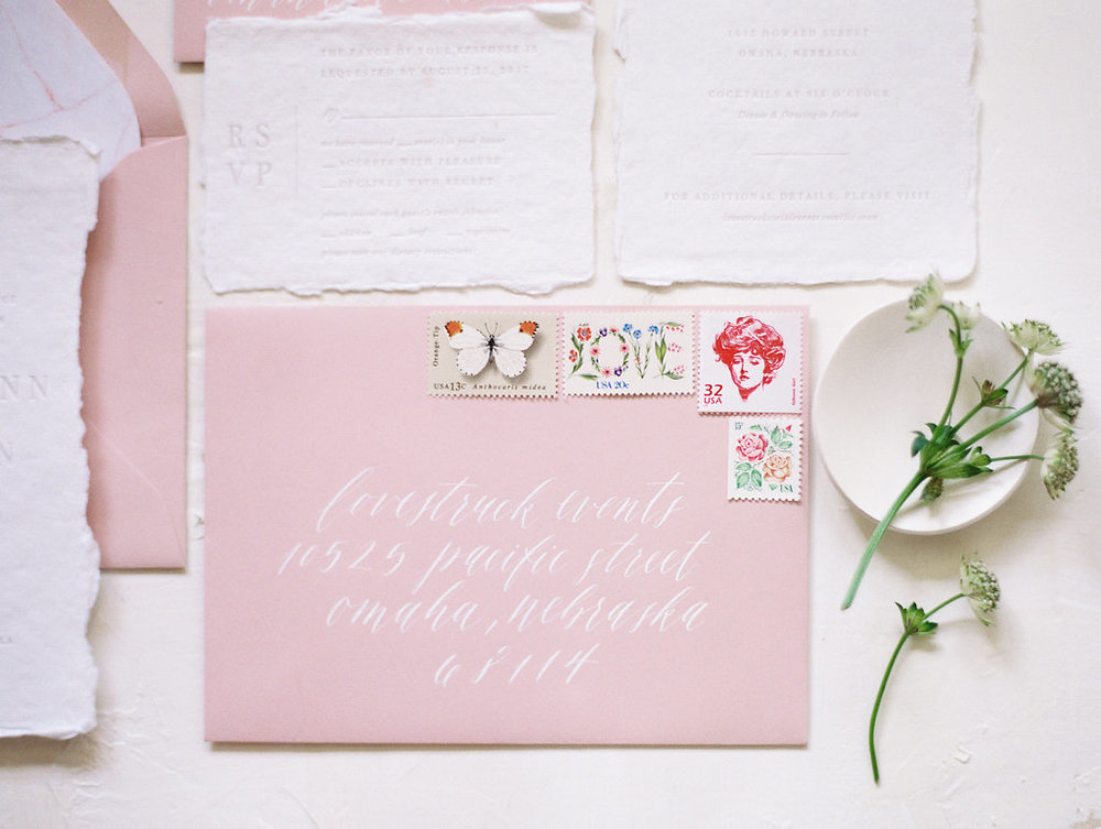 Miranda Writes | Calligraphy + Wedding Invitations | Style Me Pretty