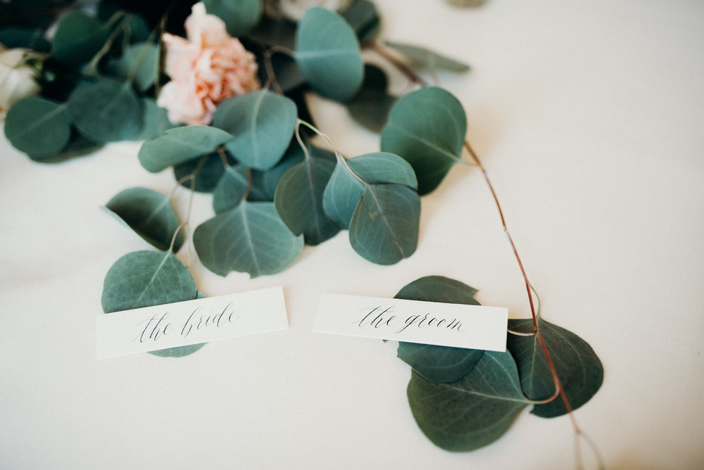 Miranda Writes | Calligraphy + Wedding Paper | Place Cards