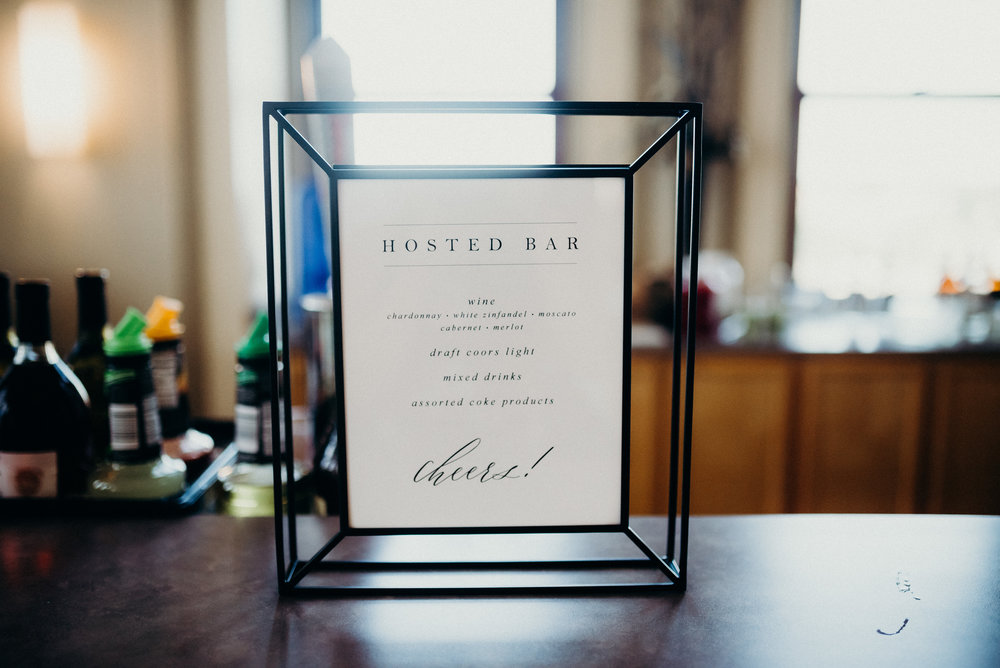 Miranda Writes | Calligraphy + Wedding Paper | Bar Menu