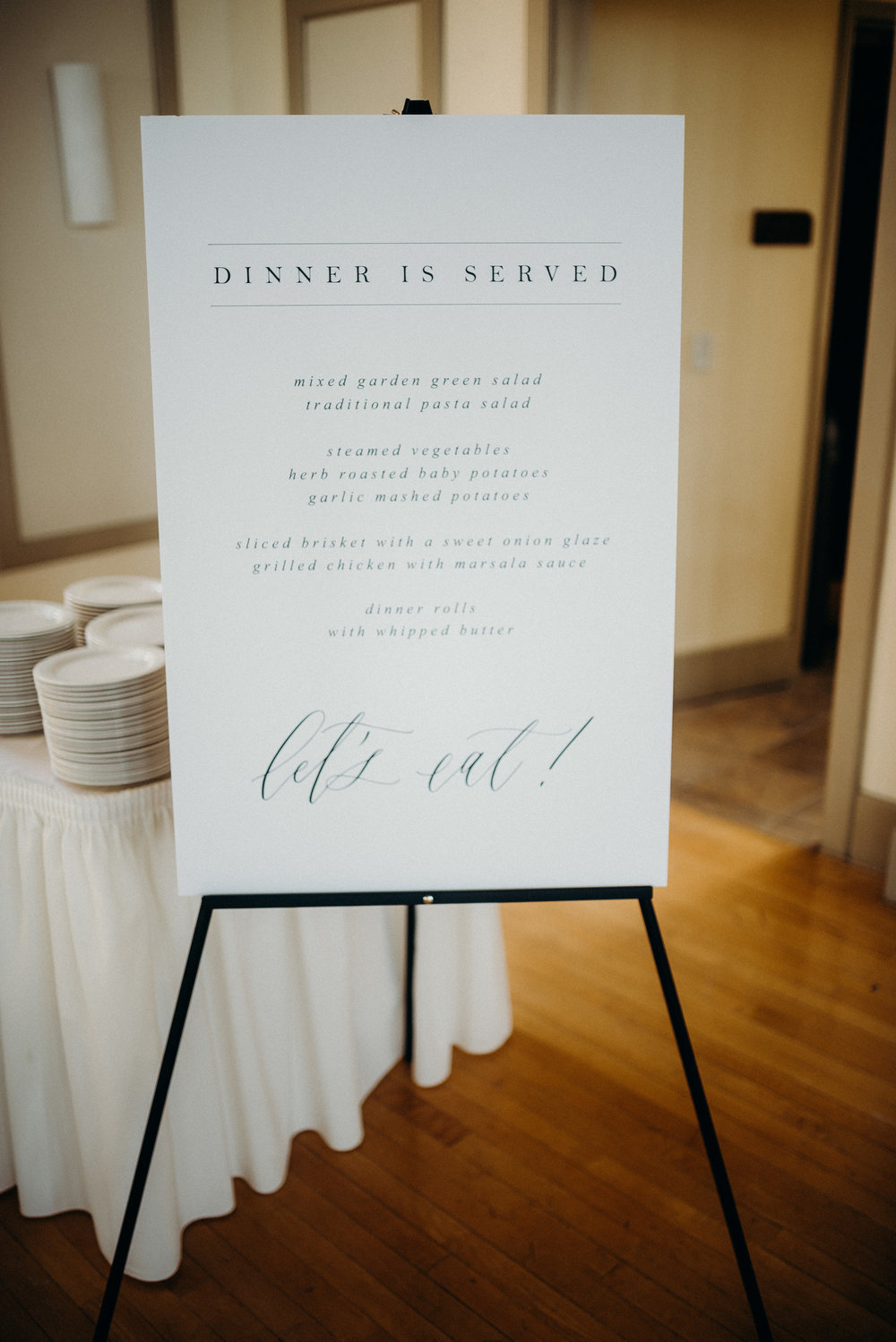 Miranda Writes | Calligraphy + Wedding Paper | Wedding Menu