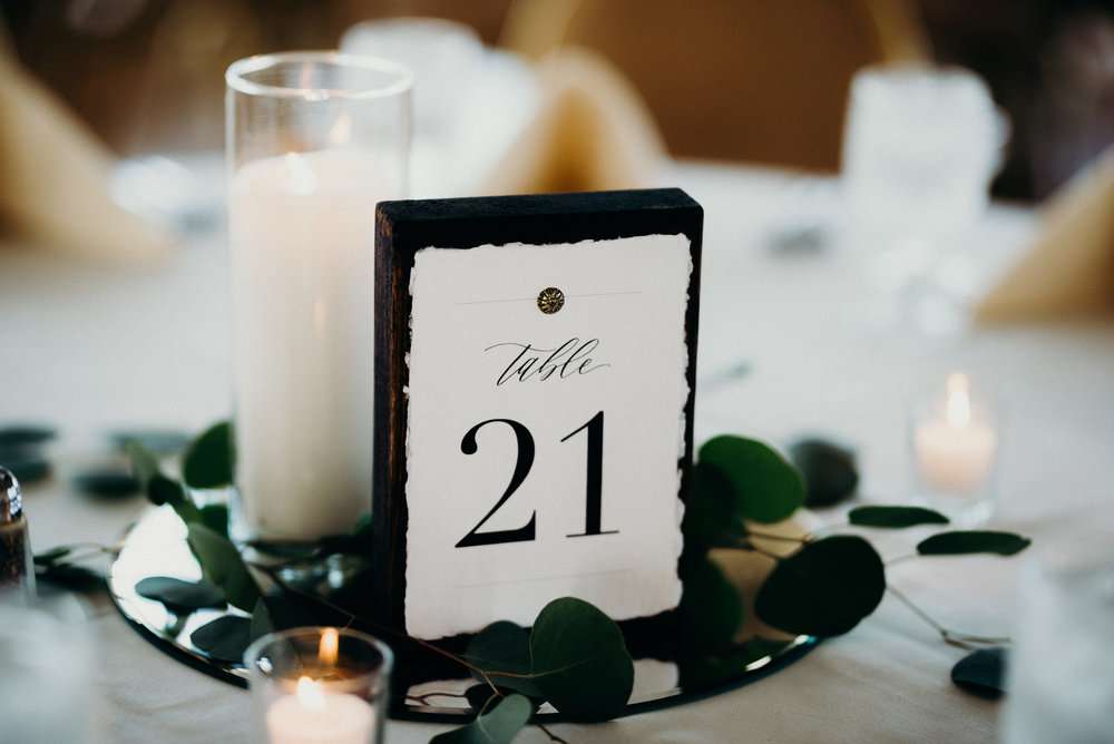 Miranda Writes | Calligraphy + Wedding Paper | Table Numbers