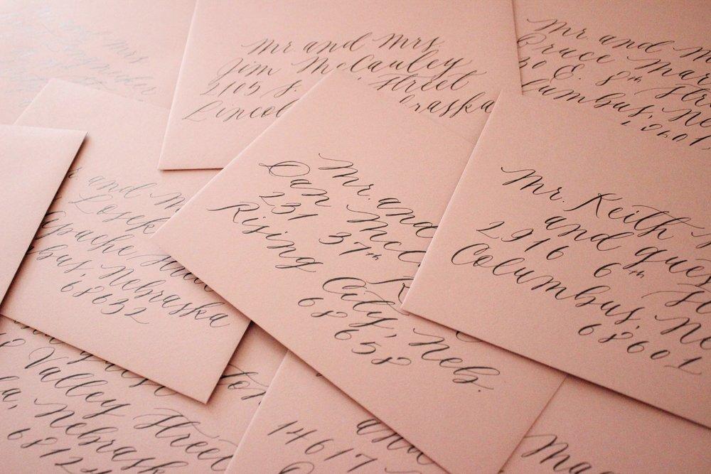 Miranda Writes | Calligraphy + Wedding Invitations