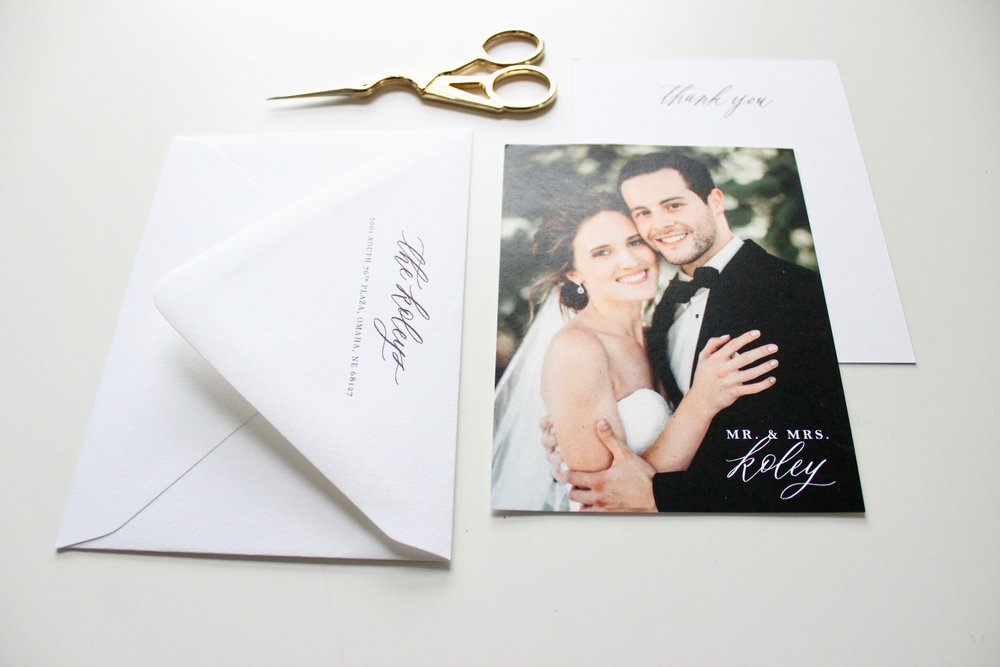 Miranda Writes | Calligraphy + Wedding Invitations | Thank You Notes