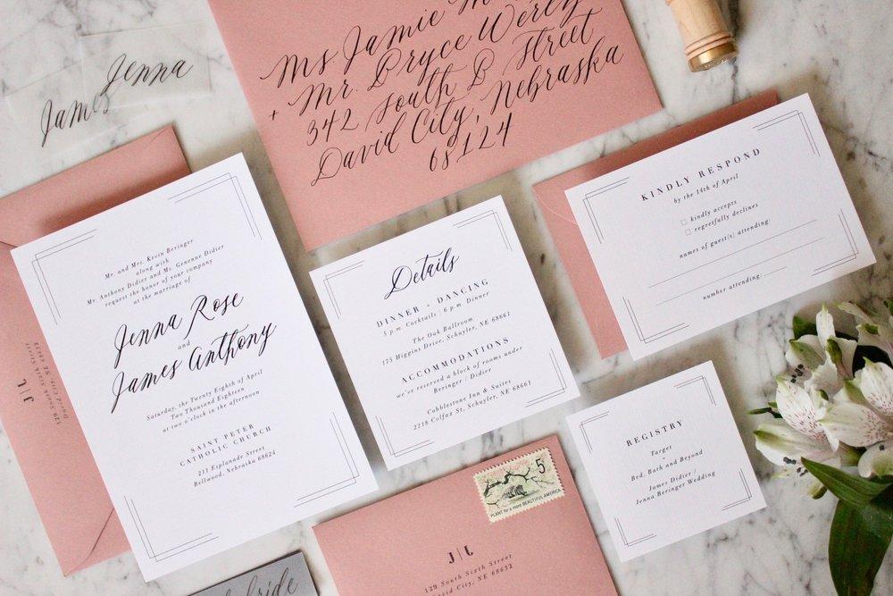 Wedding invitations miranda writes calligraphy wedding img0178g stopboris Images