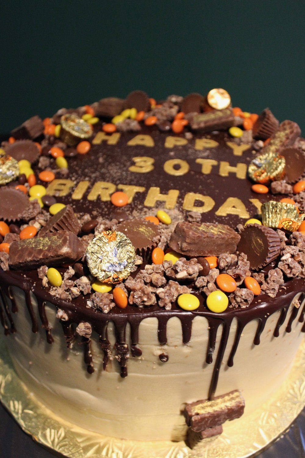The insane chocolate peanut butter cake by The Confectionist.