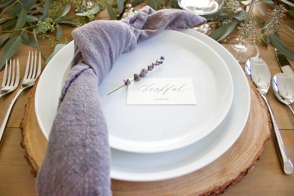 Miranda Writes | Free Thanksgiving Place Card Download