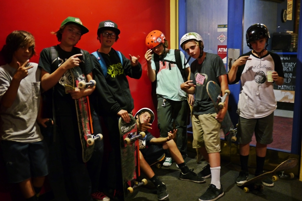 (FWIL3) These kids made it in line 90 minutes prior to doors opening! Young Noah & crew..JPG