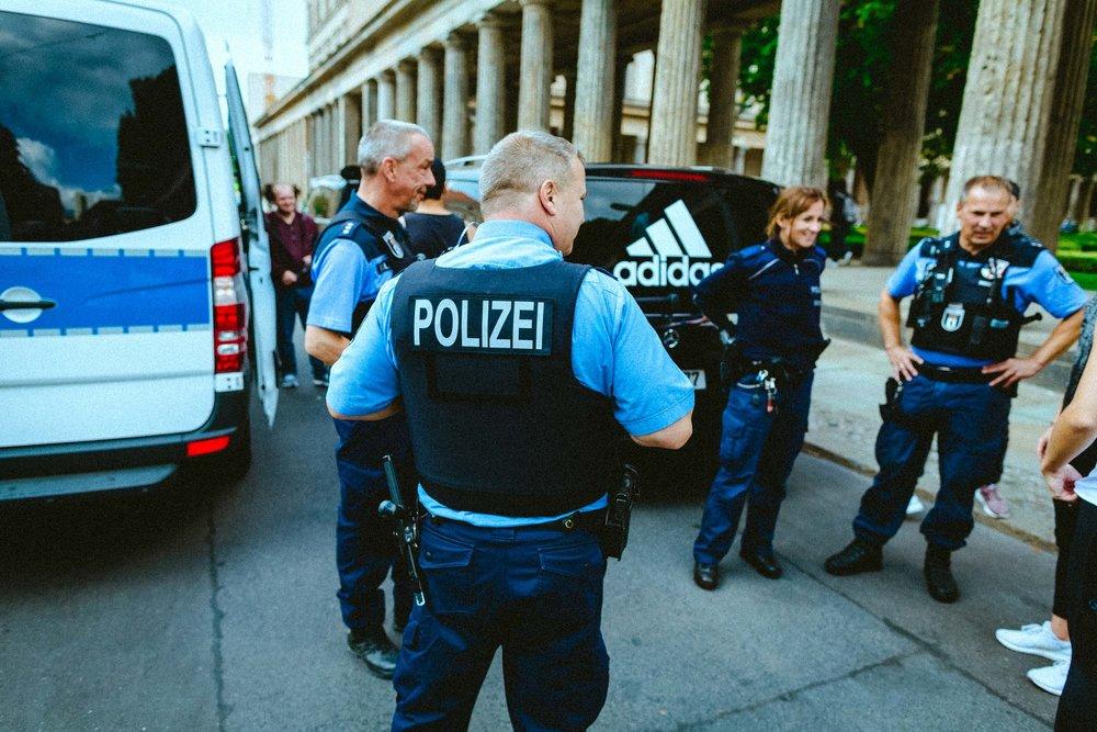 adidas berlin police running