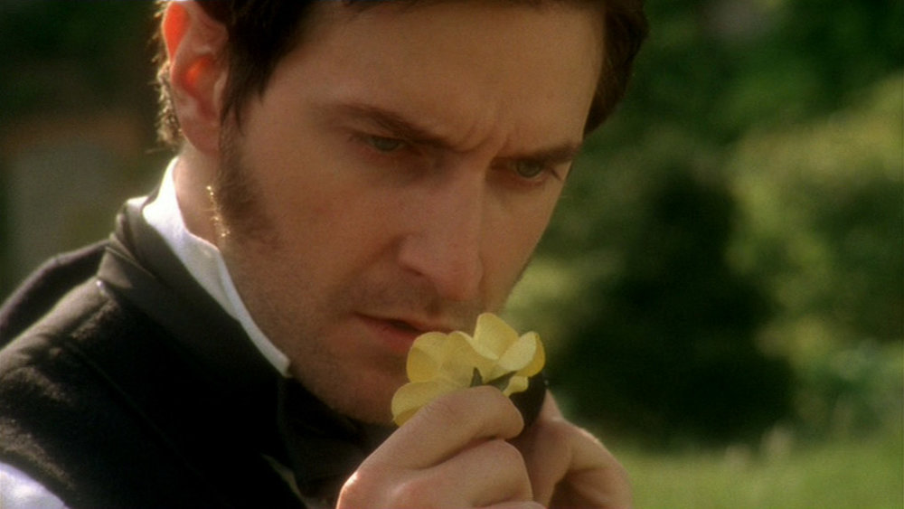 --I've always asked myself what he is thinking when he plucks that one remaining rose from the hedgerow, and I can't quite define it. I wonder what Richard Armitage would say?