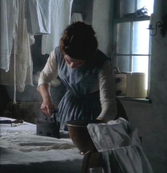 Margaret picks up the slack in housework
