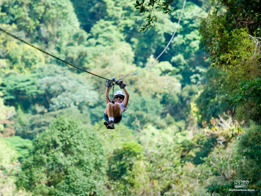 Zipline in Costa Rica | Photo via skyadventures.travel