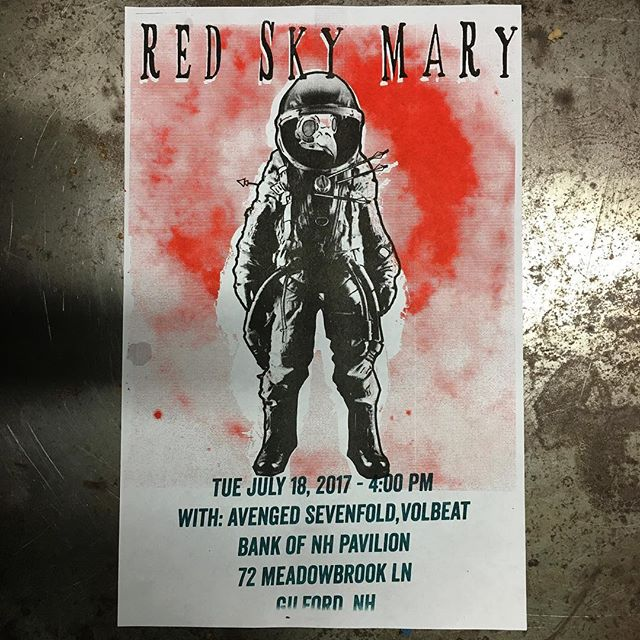 A poster I made for @redskymary Tags: #dovernh #portsmouthnh #nh #603 #newhampshire #newengland #smallbusinesses #smallbusiness #promotion #risographie #risography #risographsg #risographs #risographprint #risographic #risographprinting #risographica #risographisme  #risographe #risographed #risographprints #riso #flatstock #printlife #powertheprint #poster #risograph