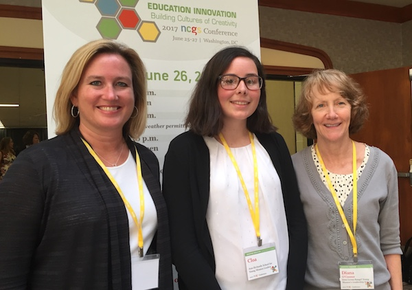 Jill DiCuffa, Cloa G., Diana O'Connor at NCGS. Photo by Libby Spears.