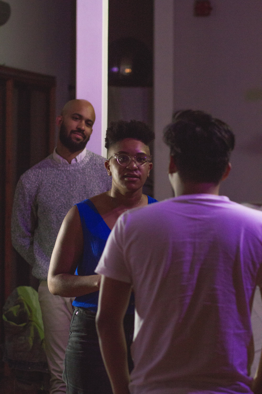 Kenny Scott, Leigh Rondon-Davis, and Lorenz Angelo Gonzales in  Sarafael  2018 | Photo by Jesse Sutterley