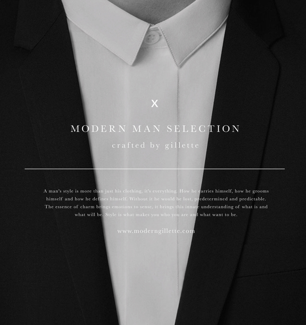Gillette Modern Man Collection Branding / UI/UX - 2013
