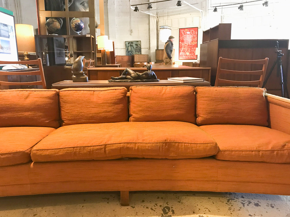 vintage danish leather sofa mid century furniture warehouse