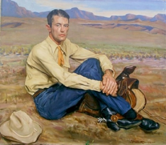 "Wilson Ellsworth, ""Portrait of R.C. Glacken,"" 1945, American; oil on canvas"