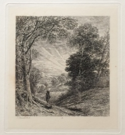 "Thomas Creswick, ""The Evening Walk;"" 1842; engraving"