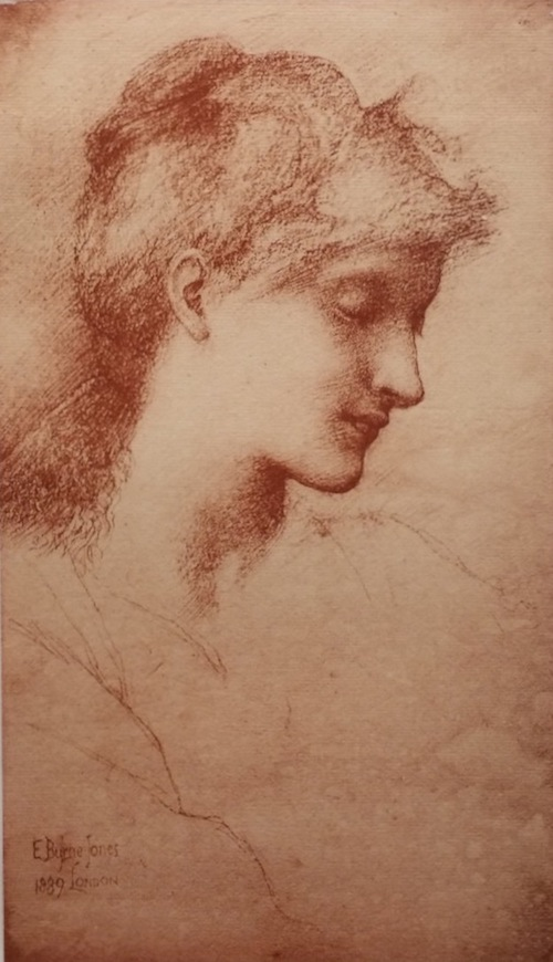 "Sir Edward Burne-Jones, ""Beauty,"" 1889; lithograph from L'Estampe Moderne  portfolio, 1898."