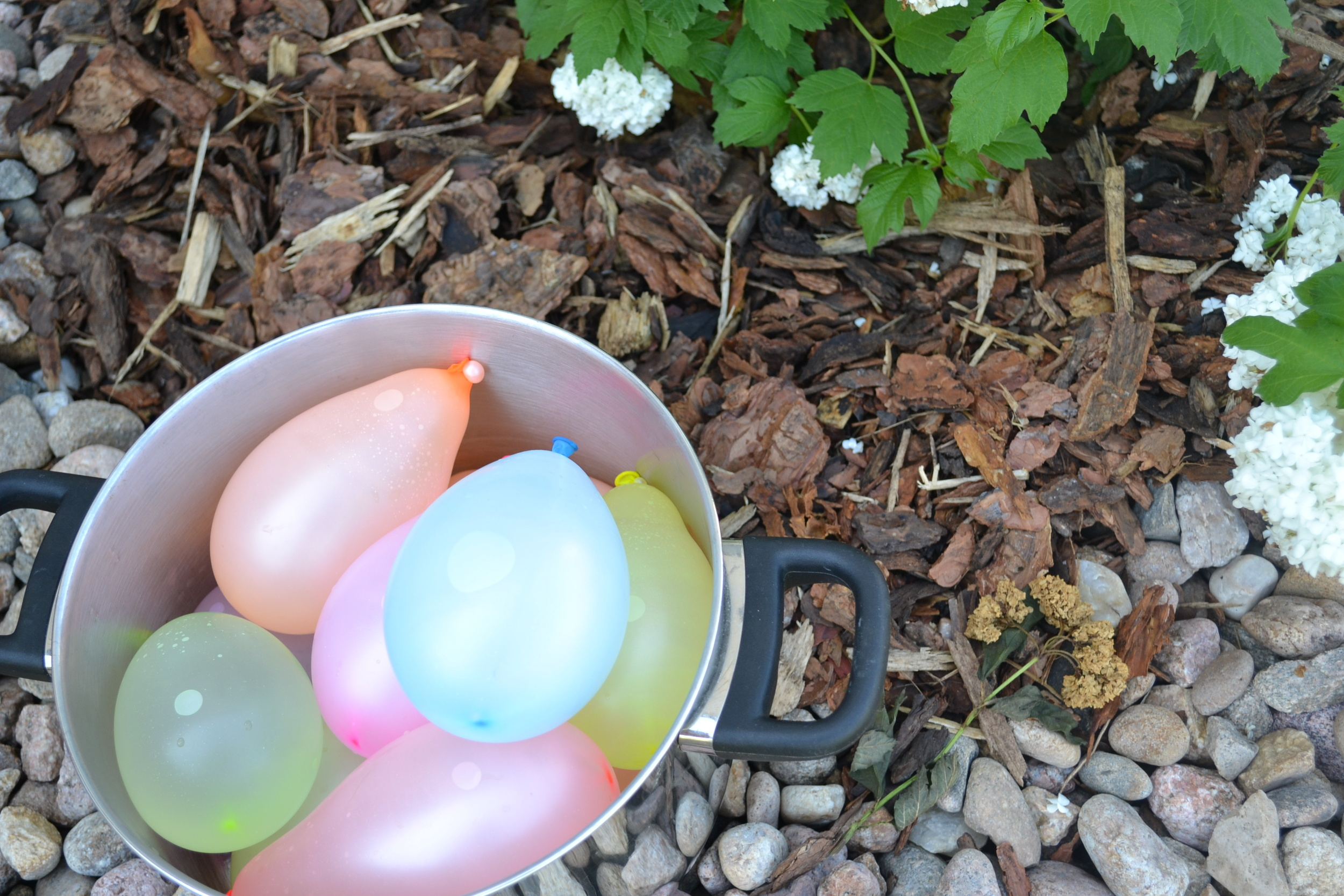 Bucket of water balloons