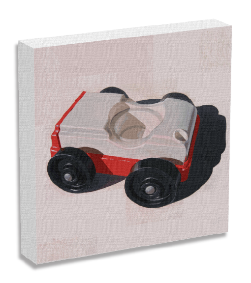Fisher Price Car Painting by Jonathan Fenske