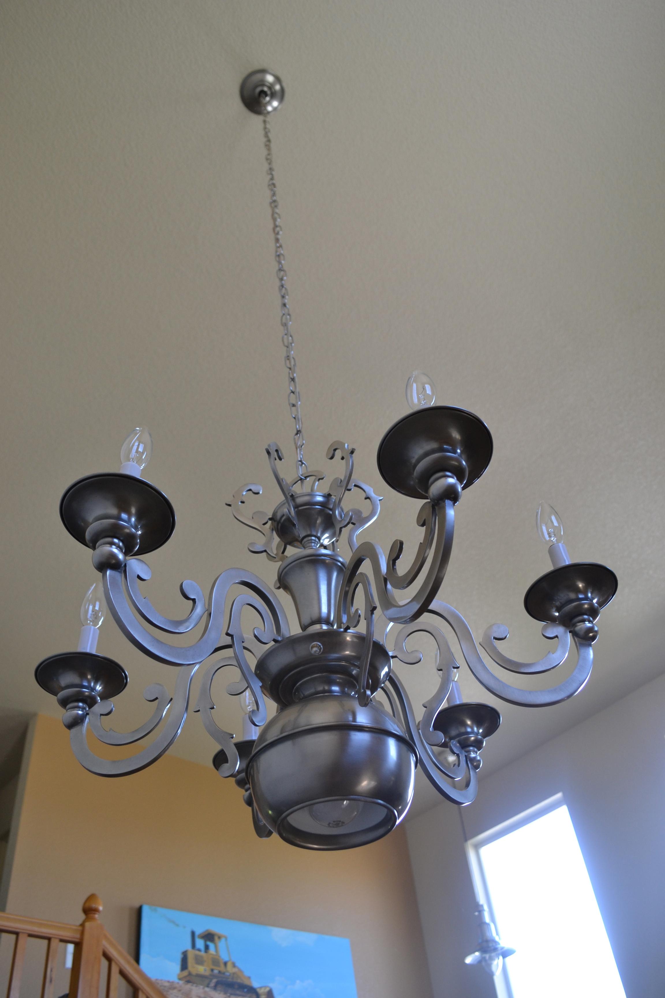 Silver vintage chandelier