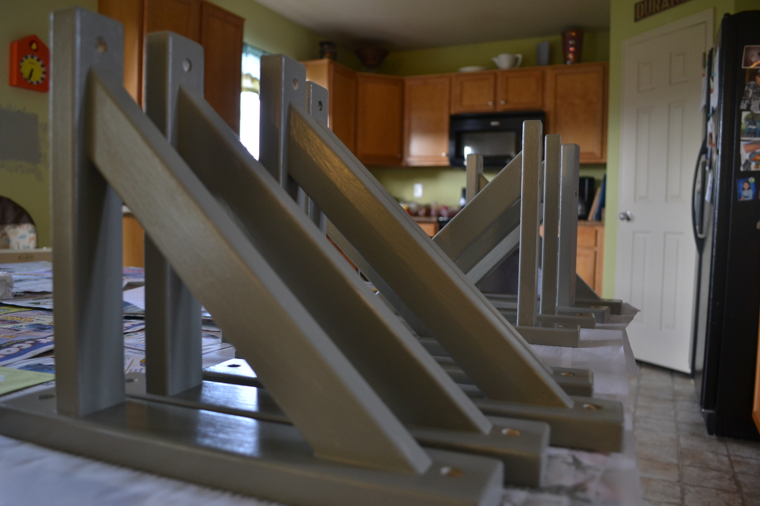 Straight 10 shelf brackets from Tyler Morris Woodworking
