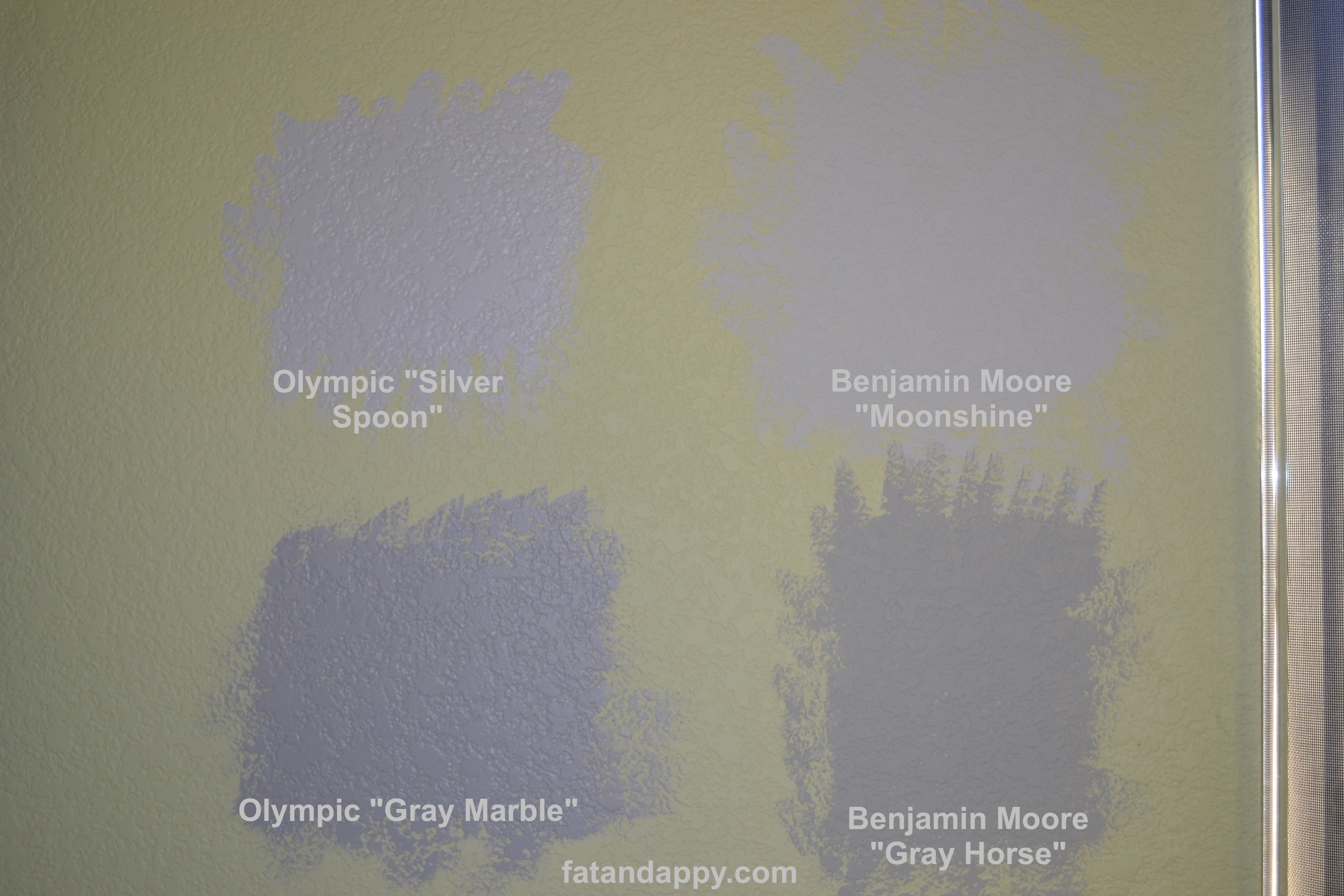 A selection of gray wall paint from Fat and Appy Modern Art for Children