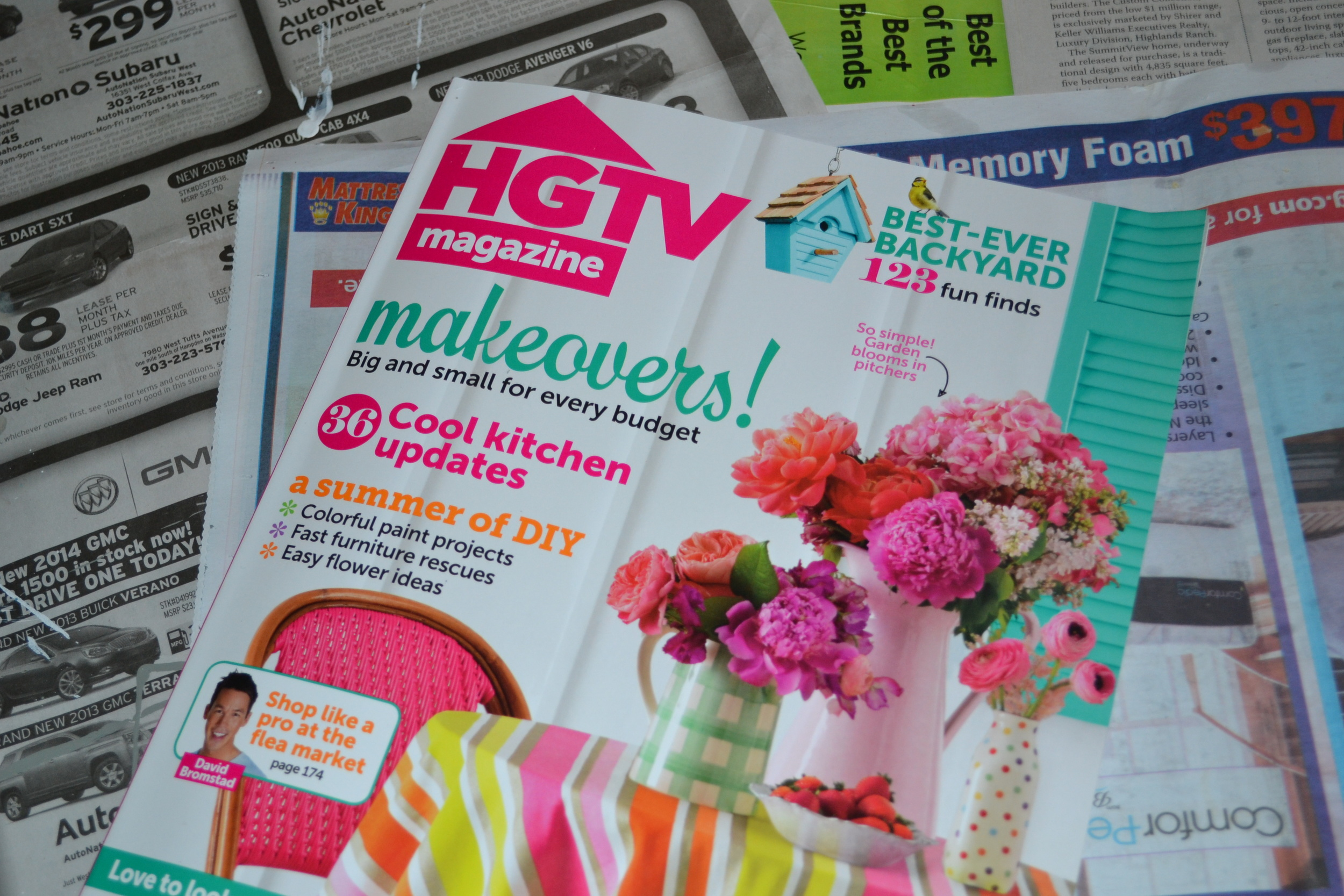 A picture of HGTV magazine