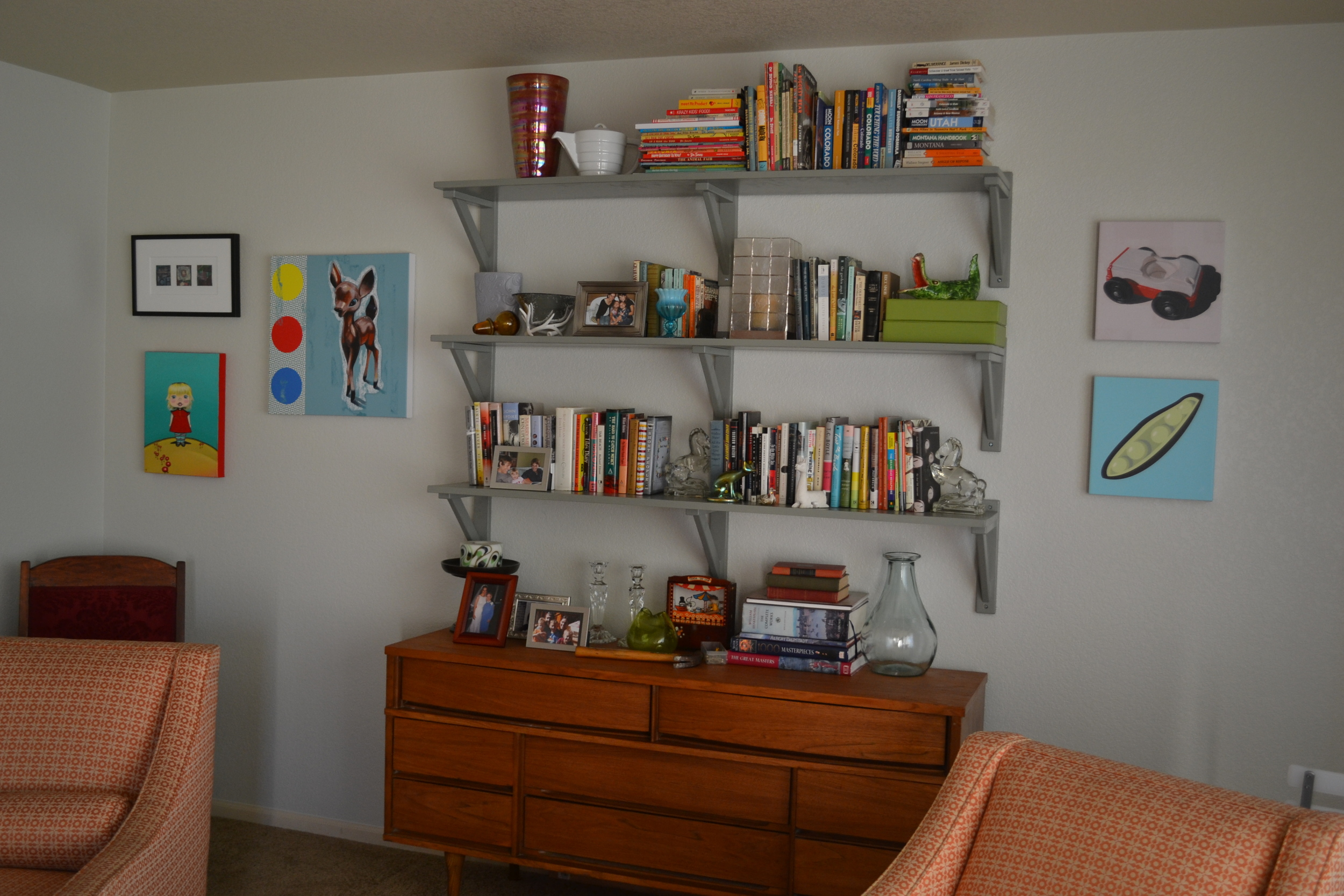A DIY family room from Jonathan Fenske of Fat and Appy Modern Art