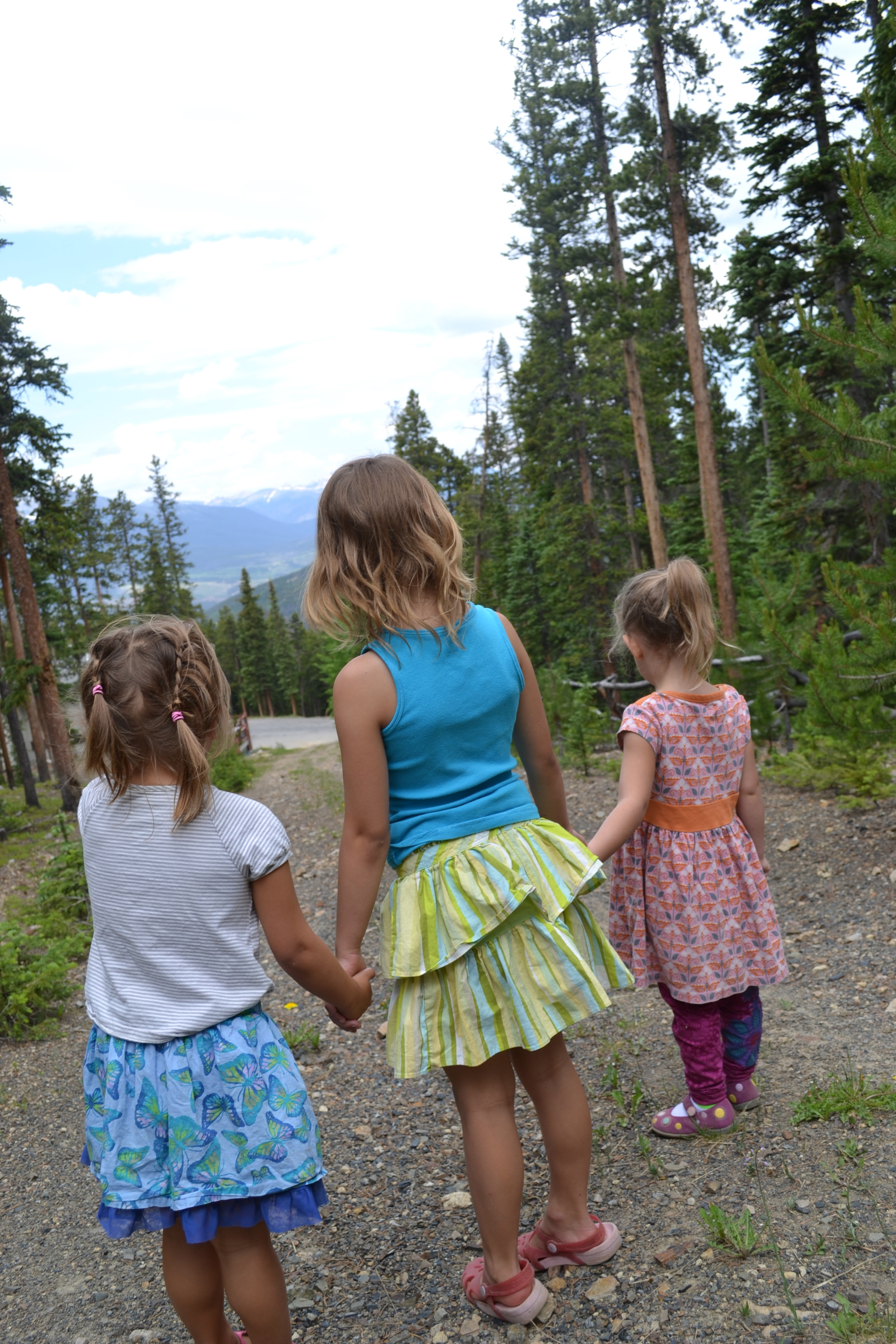Girls on a mountain in Breckenridge CO