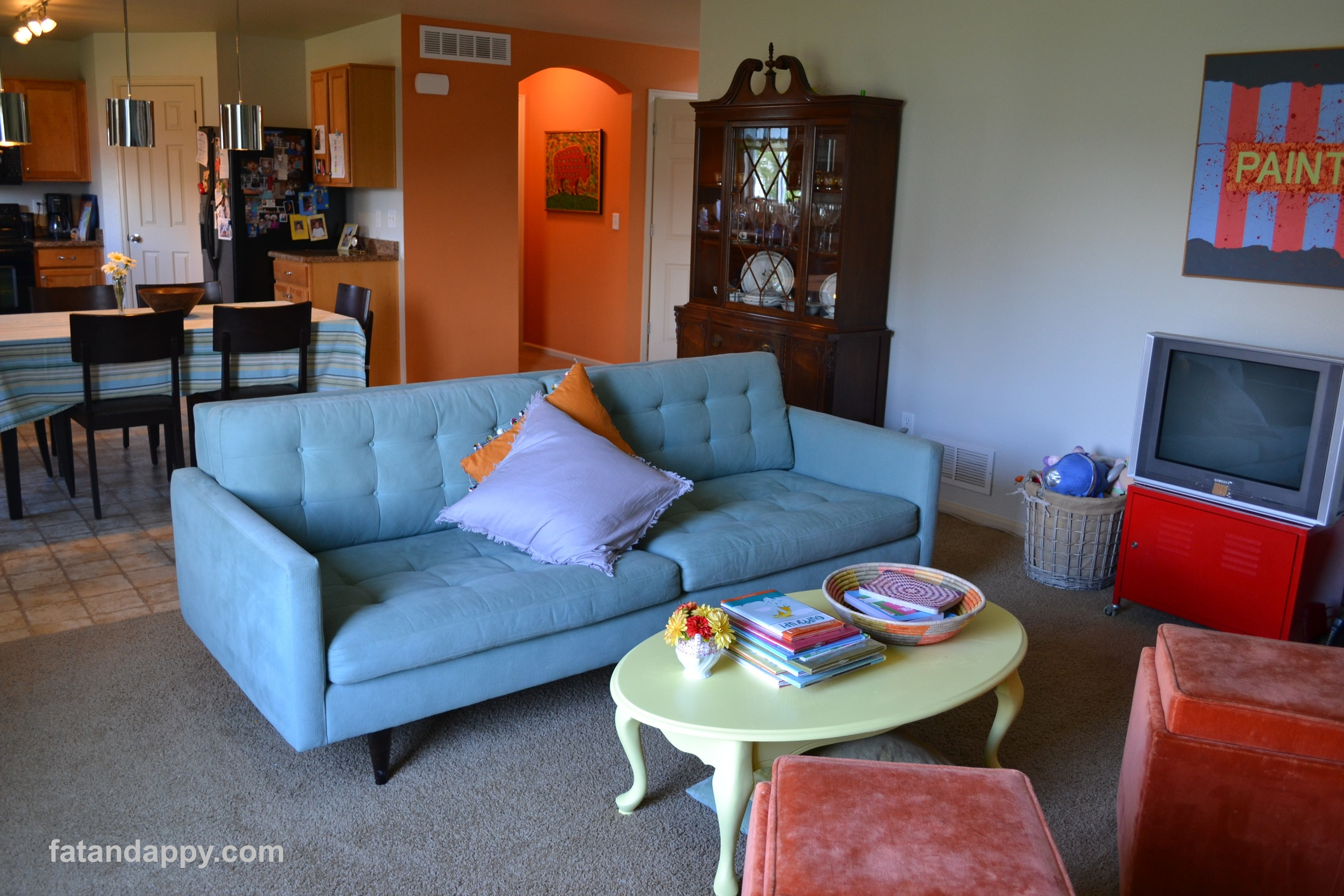 A living room makeover with Petrie sofa