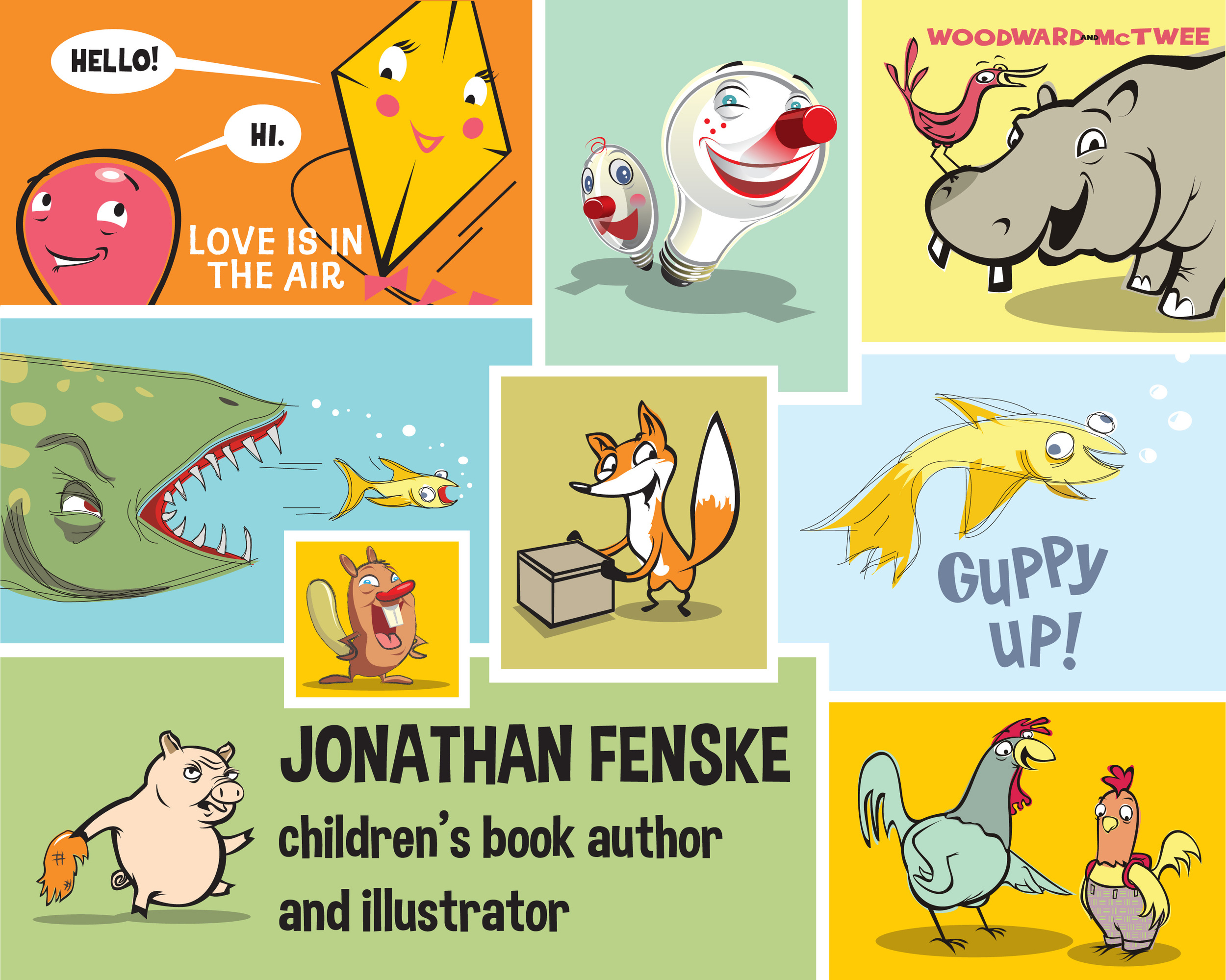 Illustrations of Jonathan Fenske's children's books