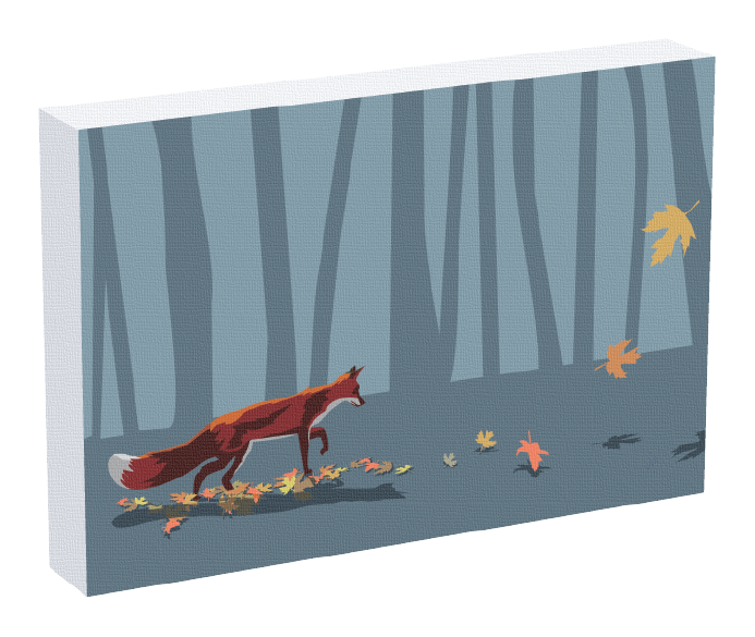 An art fox print from illustrator Jonathan Fenske