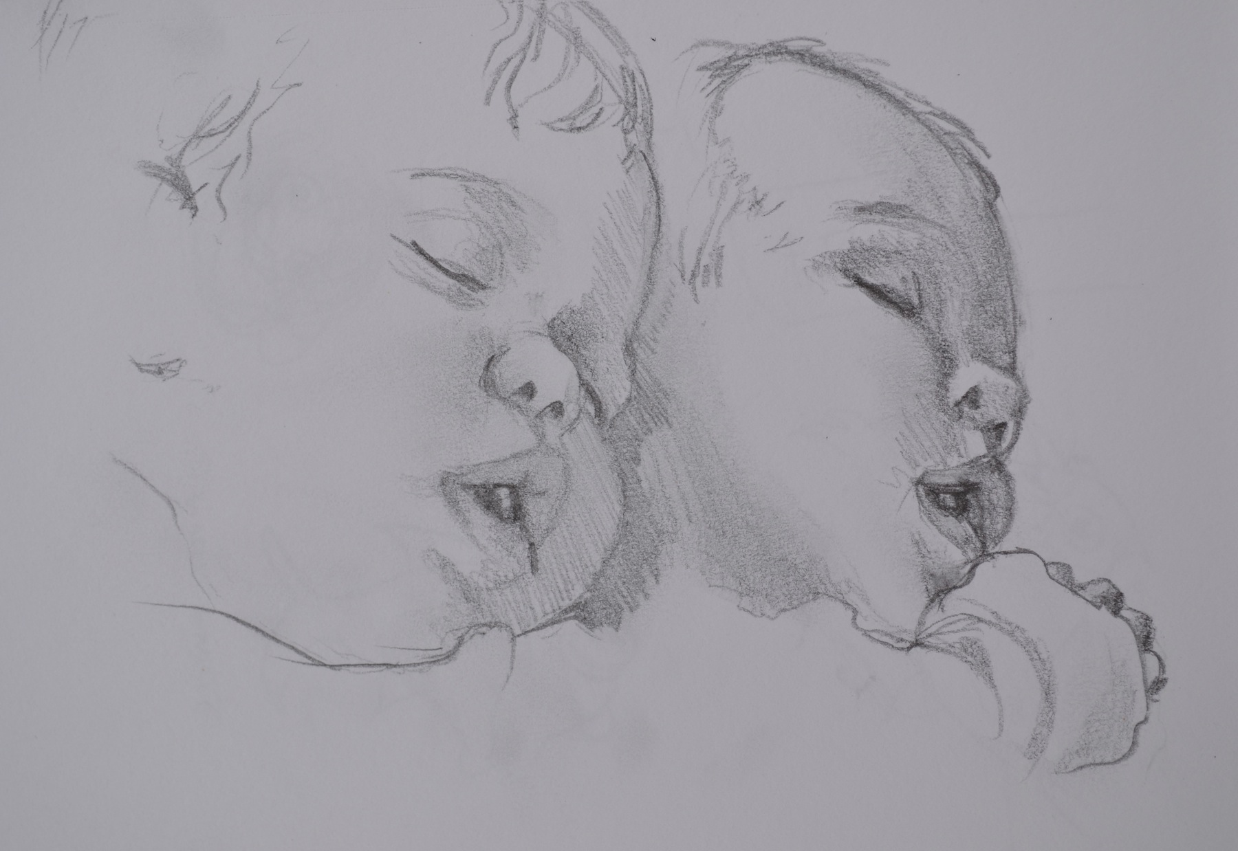 A quick sketch of a sleeping baby by Jonathan Fenske