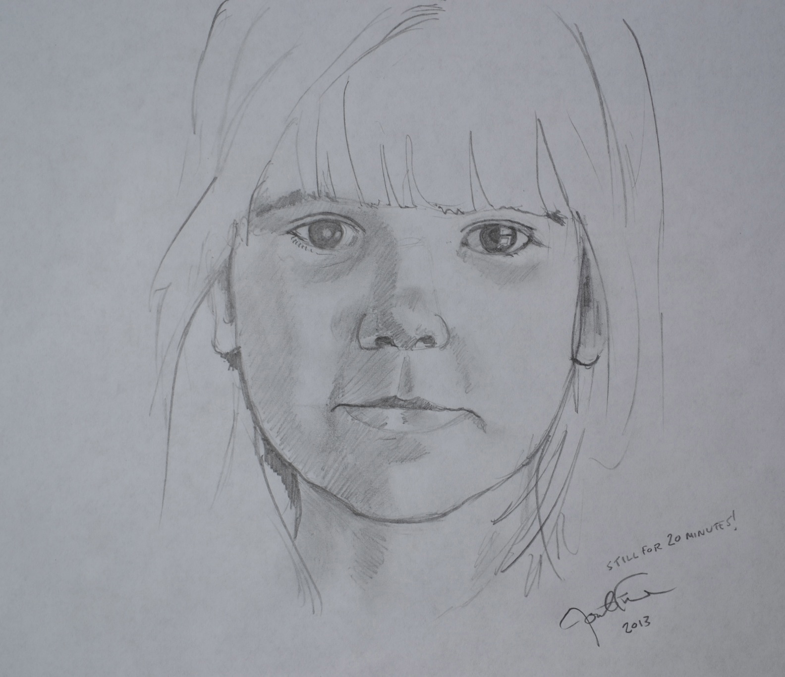 A drawing of Jonathan Fenske's middle daughter