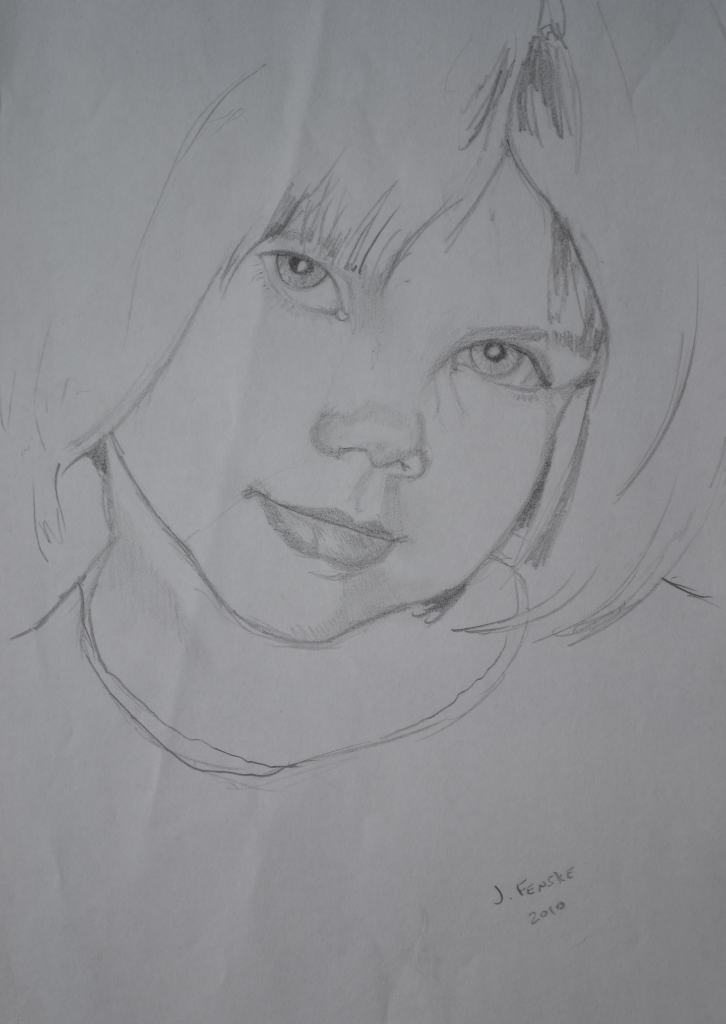 A drawing of a child by Jonathan Fenske