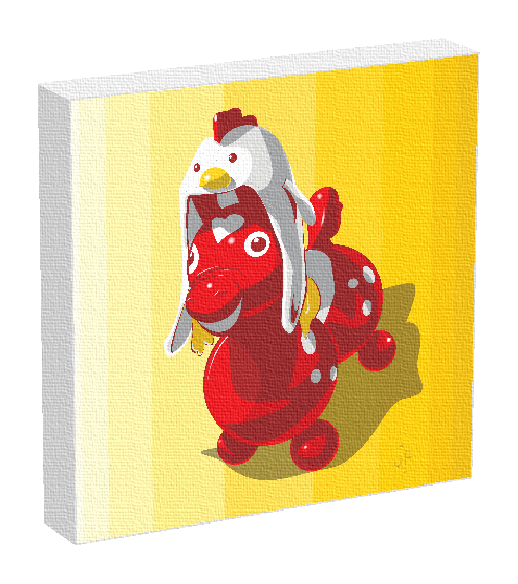 Rody bouncing horse by Denver illustrator Jonathan Fenske