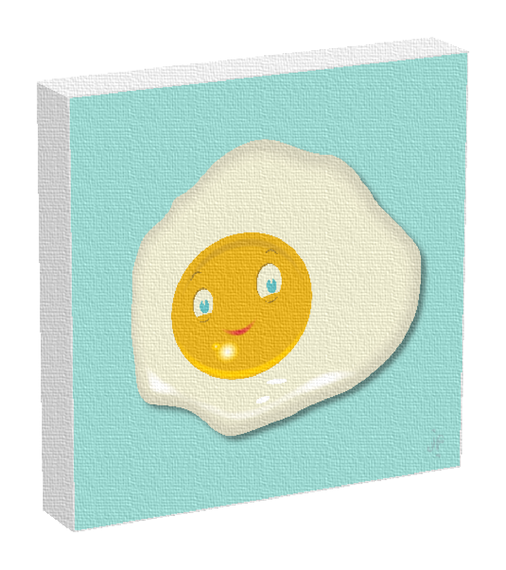 A fried egg print by Fat and Appy, designed by Jonathan Fenske