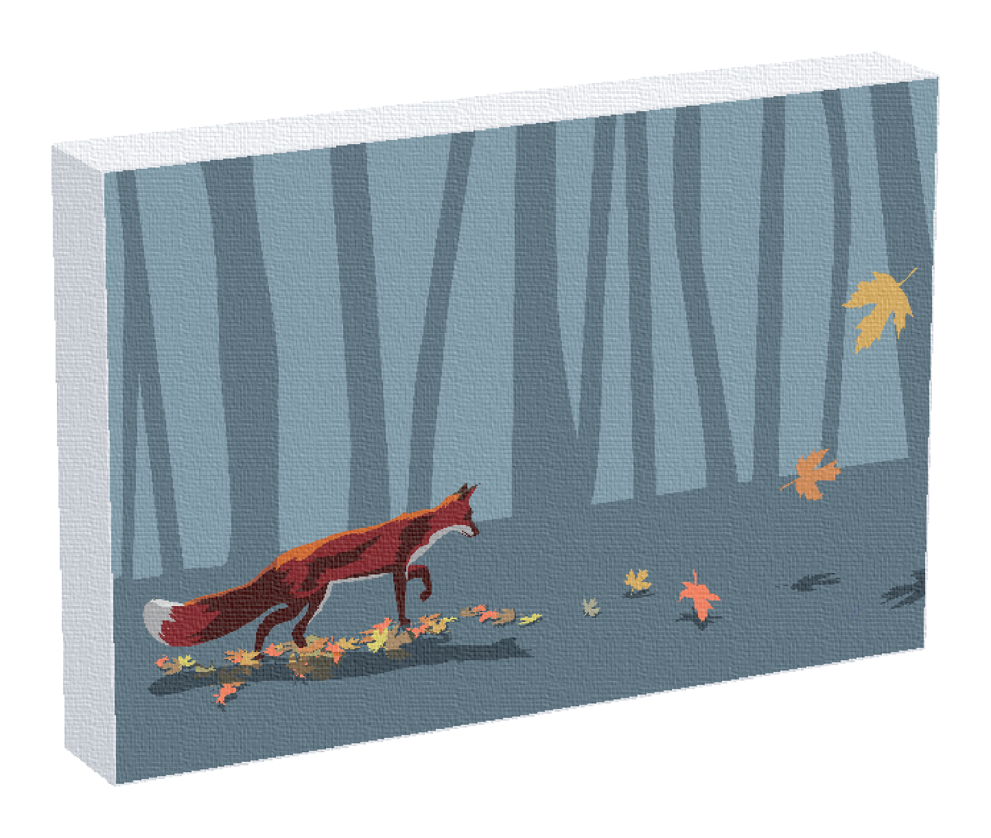 A fox print by illustrator Jonathan Fenske