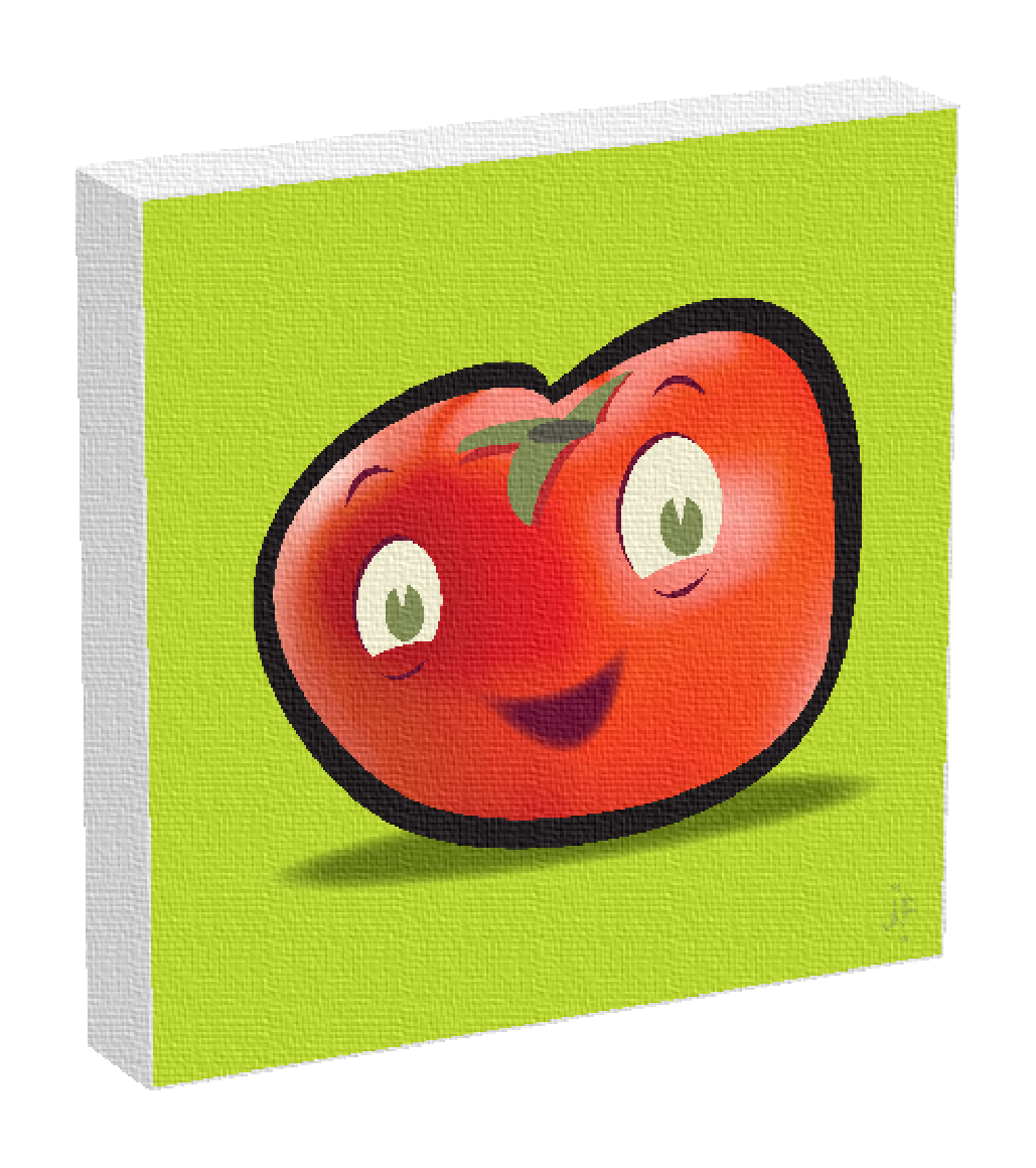 Tomato painting by Jonathan Fenske