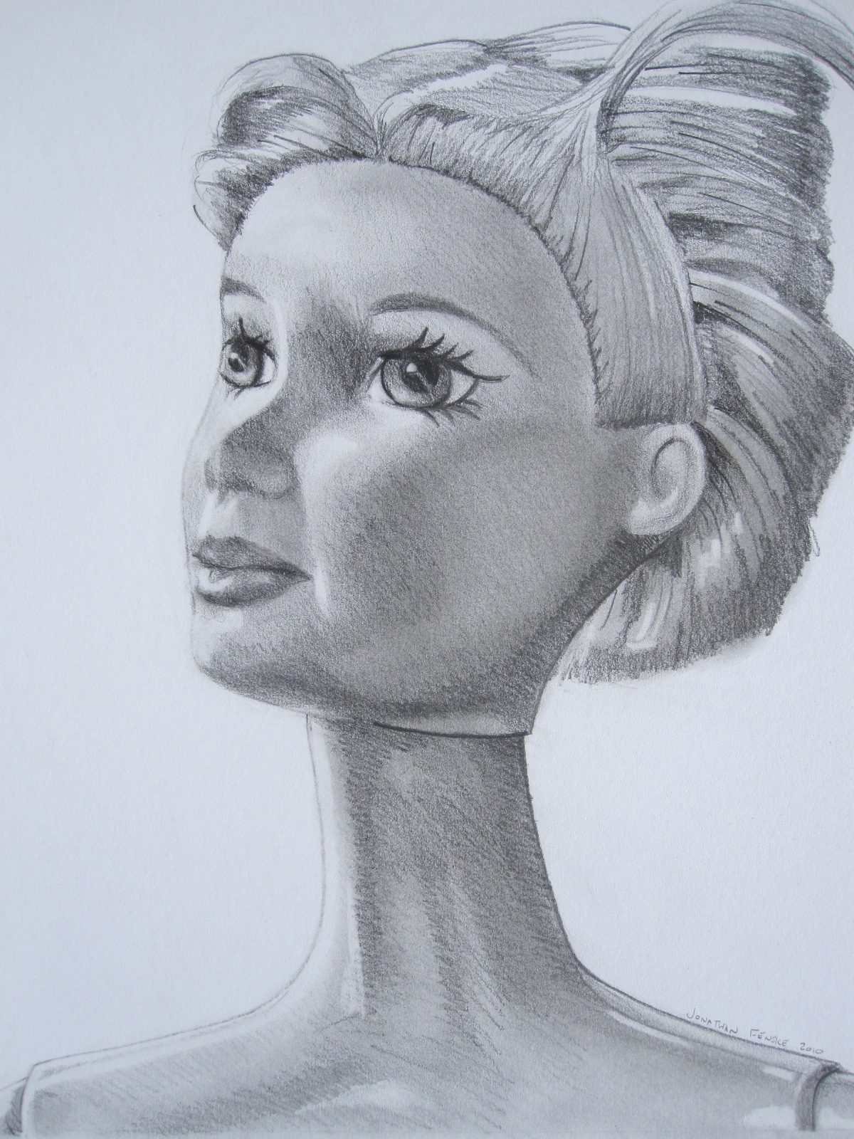 A drawing of a Barbie by Jonathan Fenske