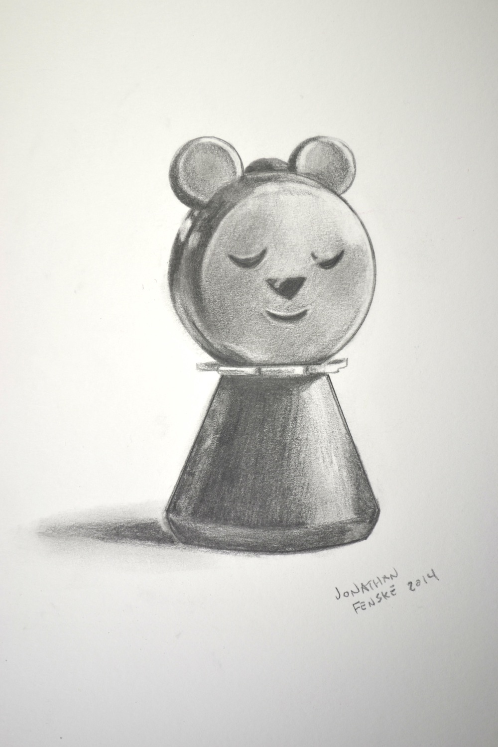 Denver artist Jonathan Fenske's drawing of a bear from the Fisher Price Goldilocks playset