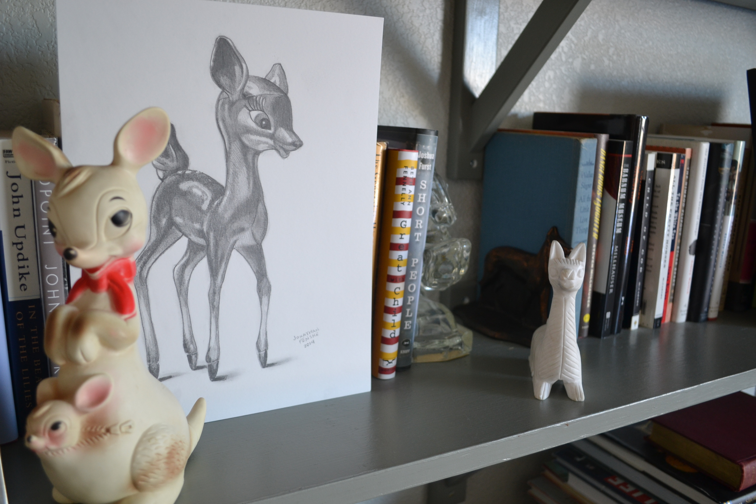 Jonathan Fenske's sketch of a 1950's deer figurine