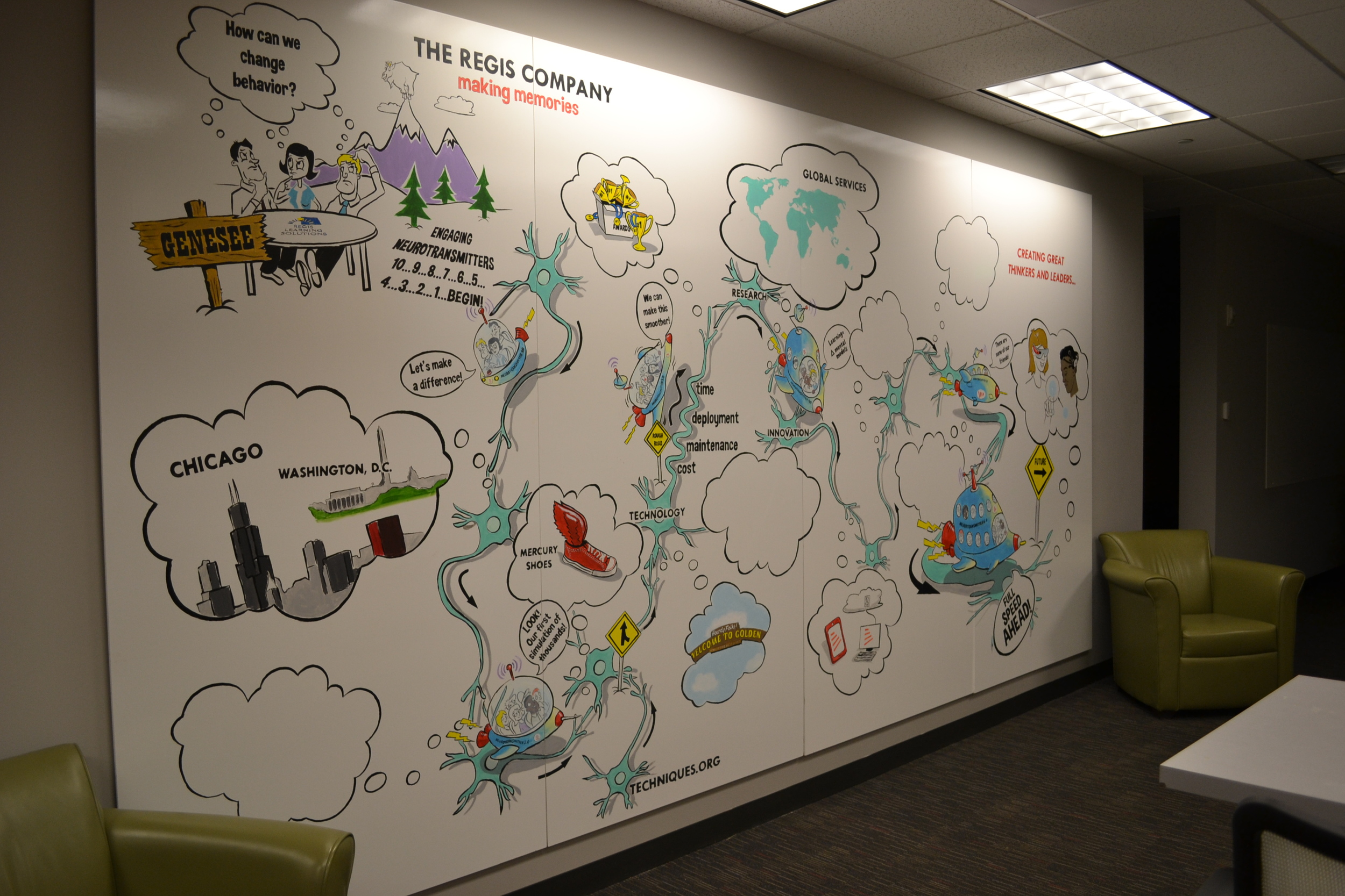 A mural by Denver illustrator Jonathan Fenske