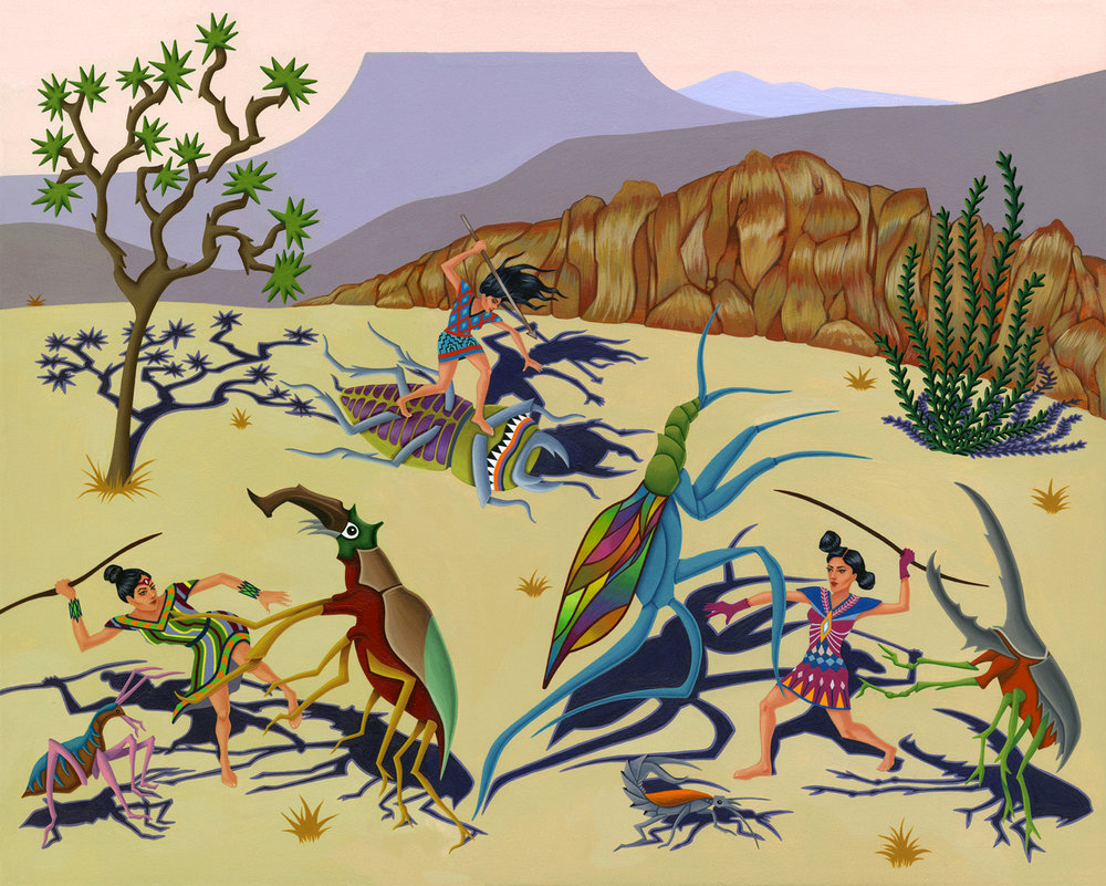 2012-Jeaneen Carlino-Tribal Narratives-Invasion of Narf.jpg