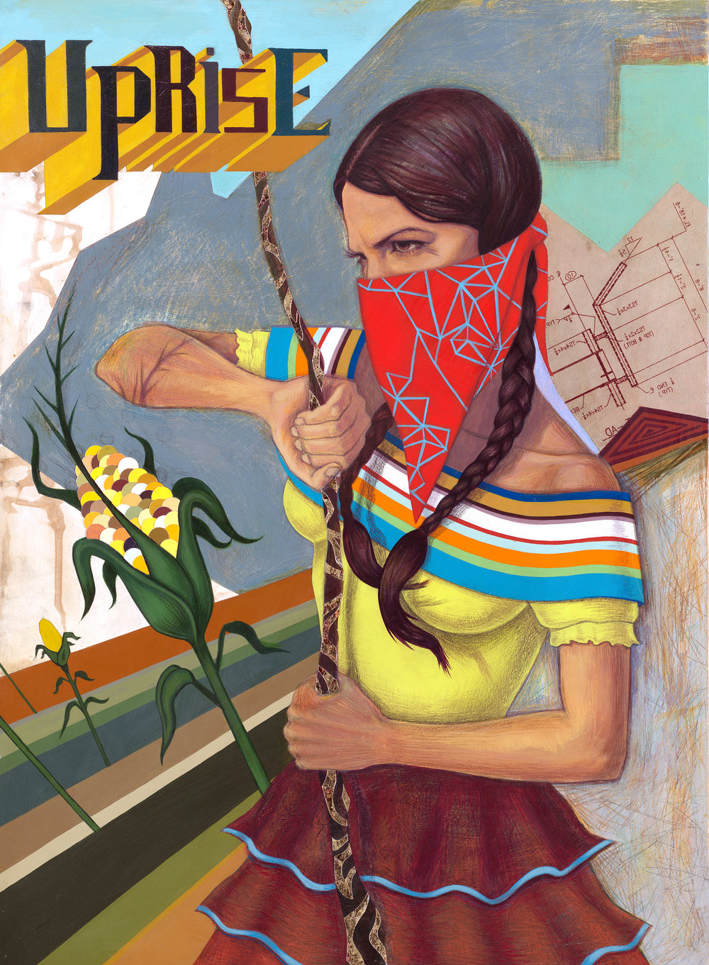 2007-Jeaneen Carlino-Zapatistas-Painting-Rising Like Corn.jpg