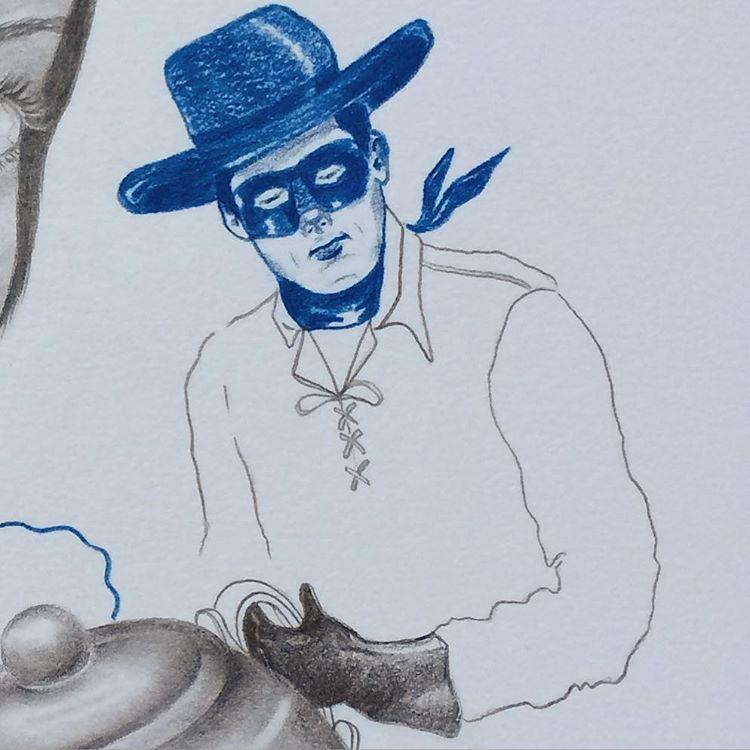 Detail #loneranger #lolagil #blue